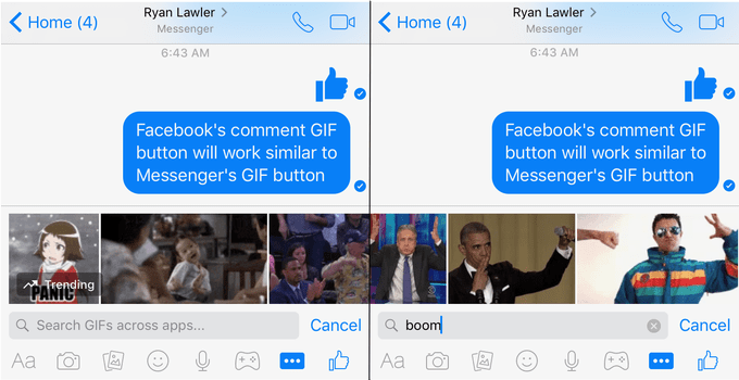 facebook confirms that it s testing gif button for comments