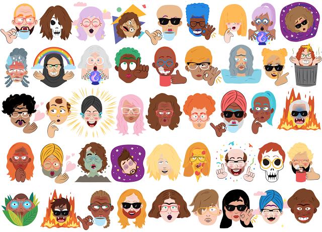 Google Allo Selfie Cartoons