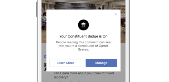 Facebook's new tool will help political office holders to reach their constituent