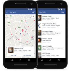 "Facebook's ""Find Wi-Fi"" tool helps you locate available Wi-Fi hot spots nearby"