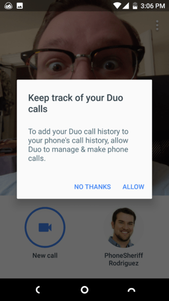 Google Duo Call History