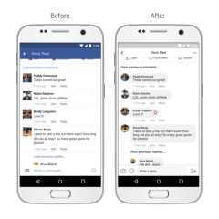 Facebook apps get new design; comments now look more like conversation