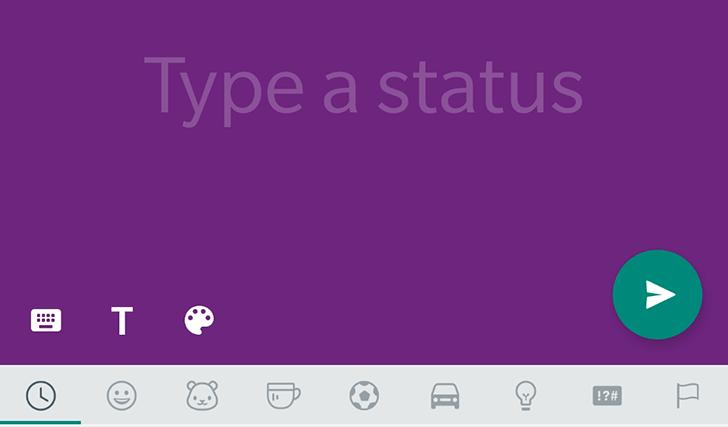 Whatsapp colored status