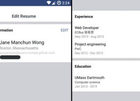 Facebook is testing a Resume/CV feature—watch your back LinkedIn!