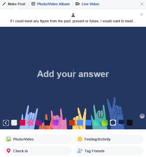 facebook add your answer