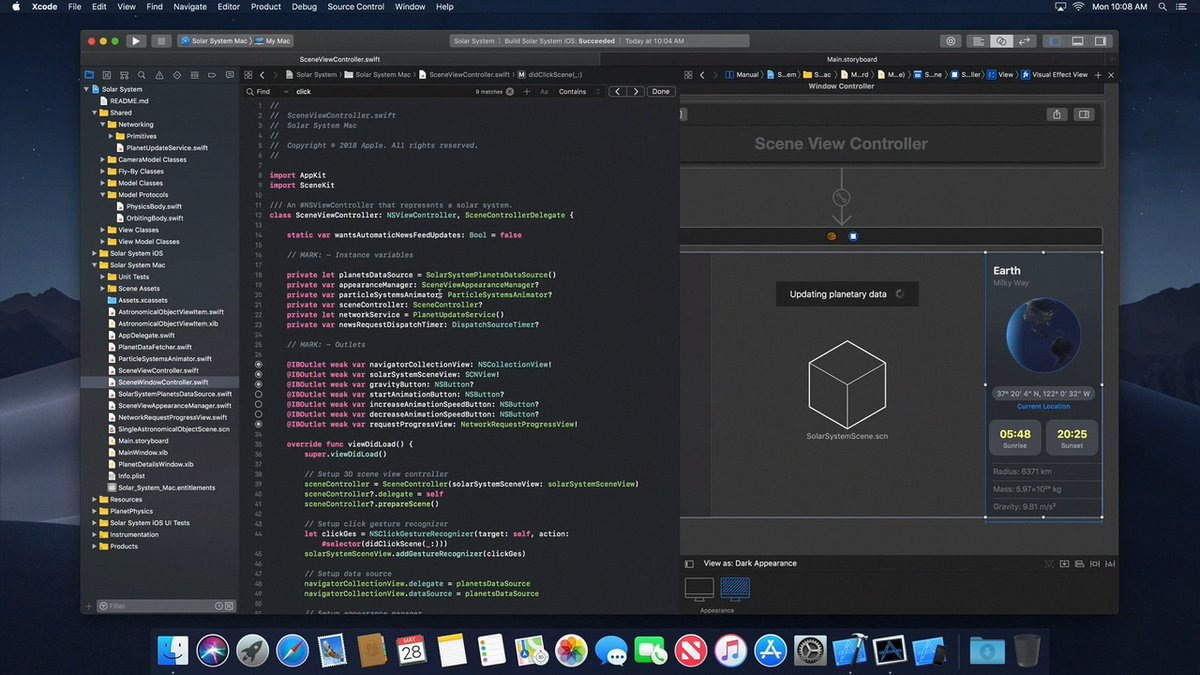Apple leaks macOS 10.14 dark mode, Xcode 10