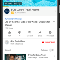 Google is changing ways ads are being shown while watching videos on YouTube