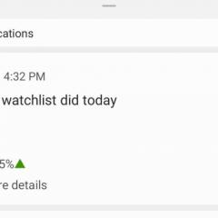 Google app starts sending daily stock notifications