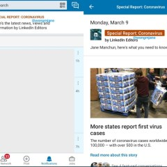LinkedIn is working on Coronavirus banner to provide credible info for users