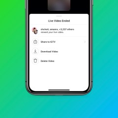 Instagram Live videos can now be saved to IGTV and still be downloaded