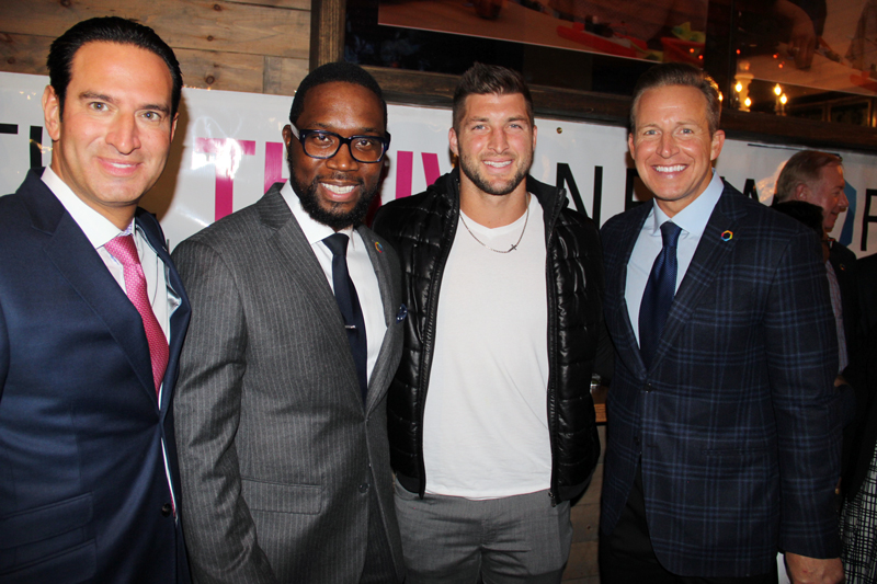 Charles Archer (CEO for The Thrive Network), Tim Tebow ( former NFL Quaterback) & Chris Wragge ( The Today Show).