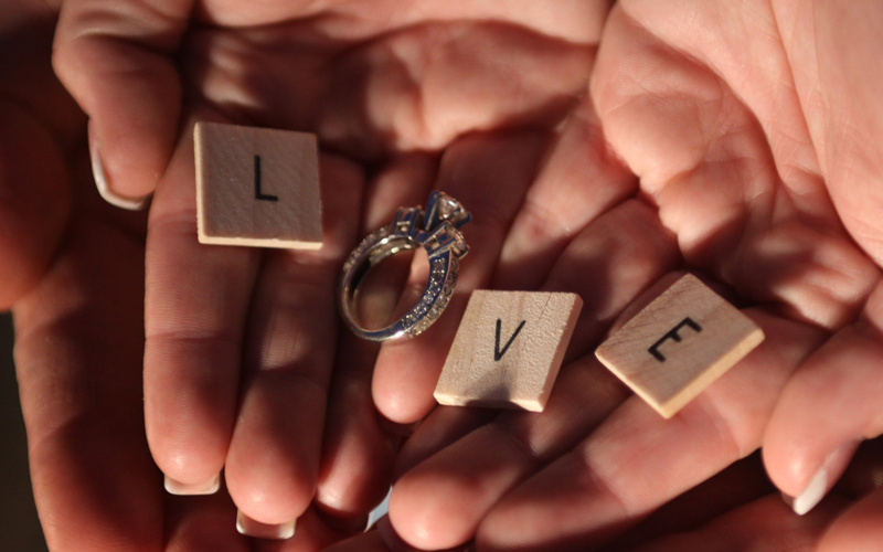 Love-and-engagement-ring