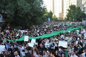 Mousavi protest in Iran (power of the crowd social media twitter)