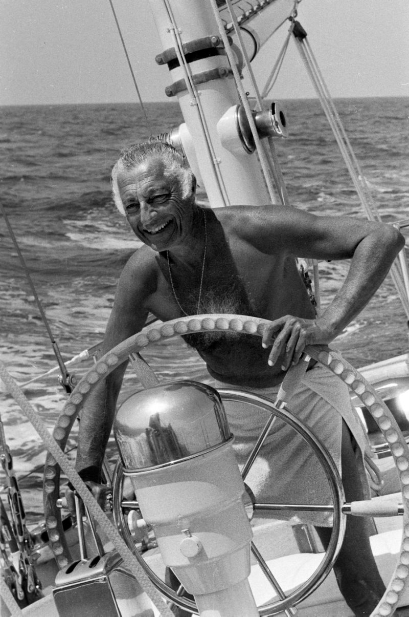 Gianni Agnelli in barca