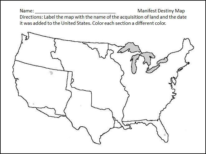 Manifest Destiny Map Worksheet Delibertad – Manifest Destiny Map Worksheet
