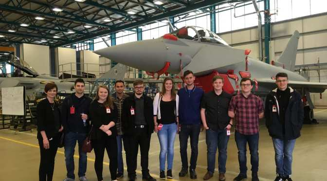 Students visit RAF Coningsby to learn from BAE Systems