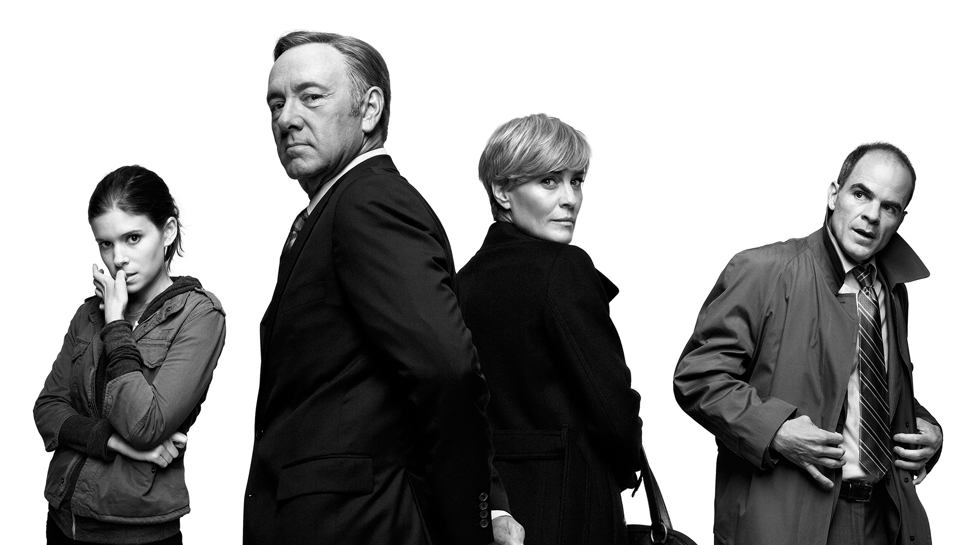 The cast of House Of Cards