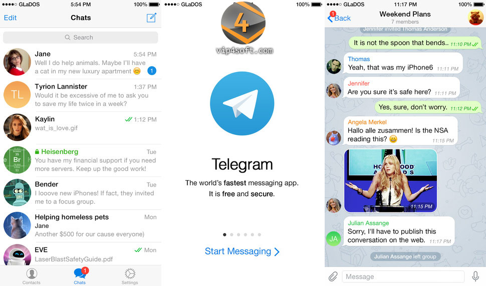 Telegram تطبيق تيلجرام للمحادثات الفورية للايفون