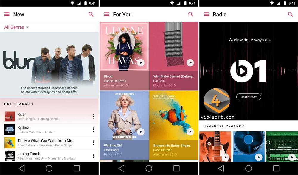 Apple Music تطبيق أبل للموسيقى على الأندرويد