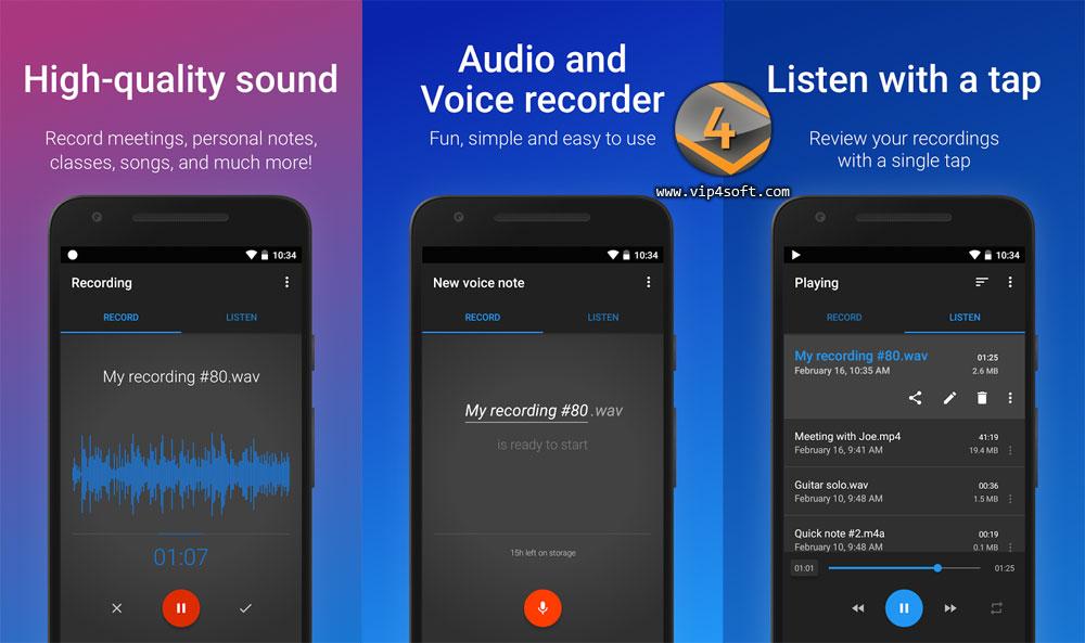Easy Voice Recorder تطبيق لتسجيل الأصوات على أندرويد