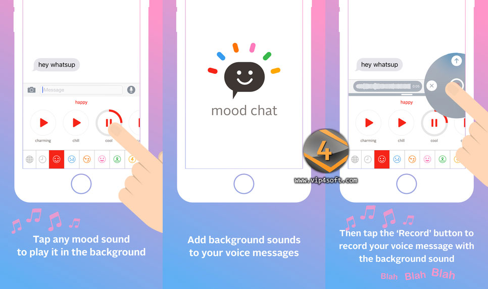 Mood Chat تطبيق لإضافة خلفية موسيقية لصوتك أثناء التواصل الفوري على الايفون