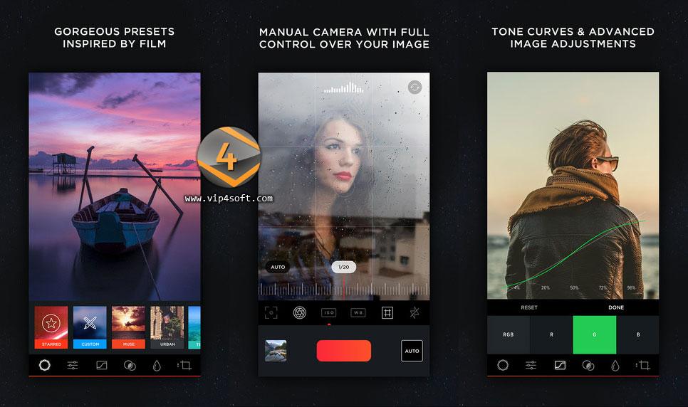 MuseCam تطبيق لتحرير الصور لهاتف للايفون والايباد