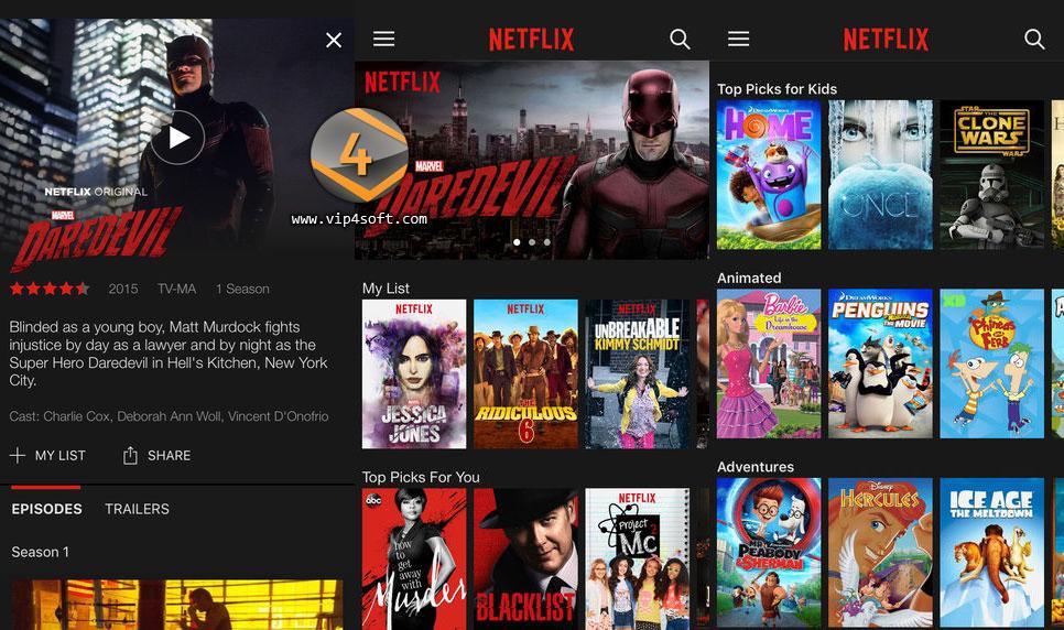 تطبيق نيتفليكس Netflix لبث الأفلام والمسلسلات على الايفون والايباد