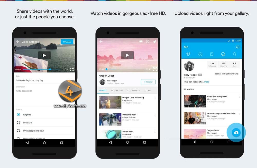 تطبيق فيمو Vimeo لمشاهدة الفيديوهات على الأندرويد
