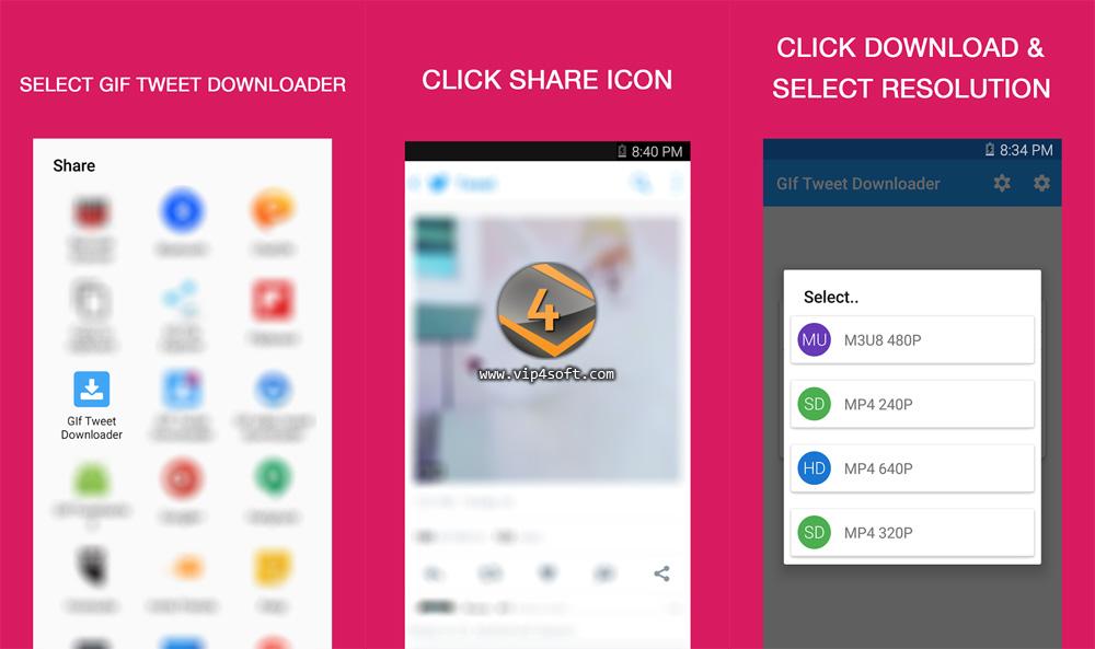 Tweet Downloader تطبيق تحميل الصور المتحركة و الفيديو من تويتر على الأندرويد