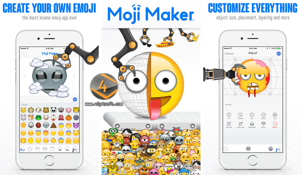 Moji Maker™ تطبيق لإنشاء الوجوه التعبيرية على هواتف آيفون