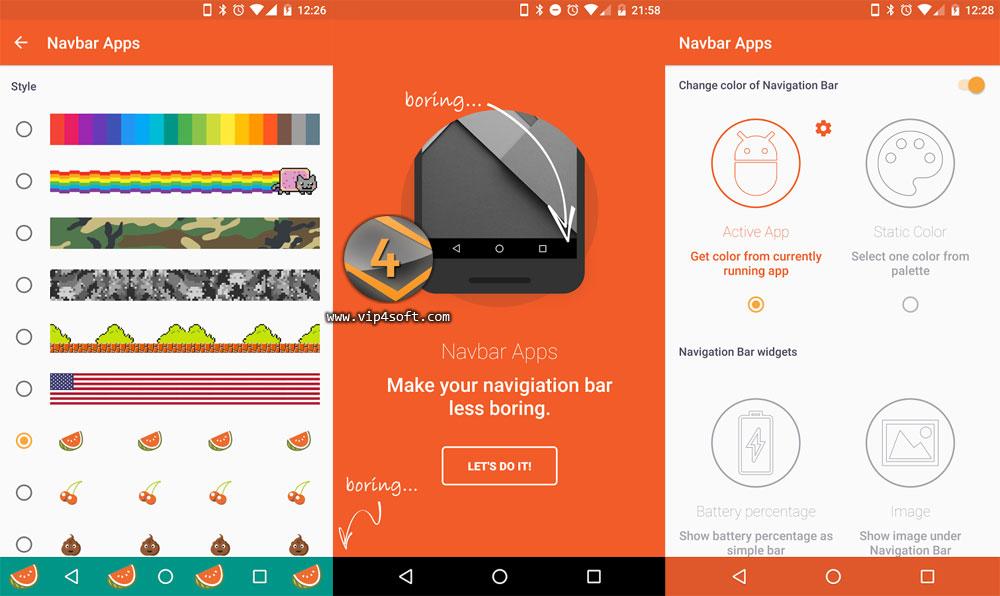 Navbar Apps تطبيق أندرويد لتغيير لون شريط التنقل بدون روت