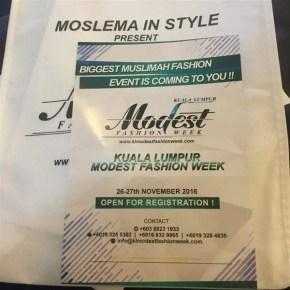 Program Moslema in Style International Tour 2016
