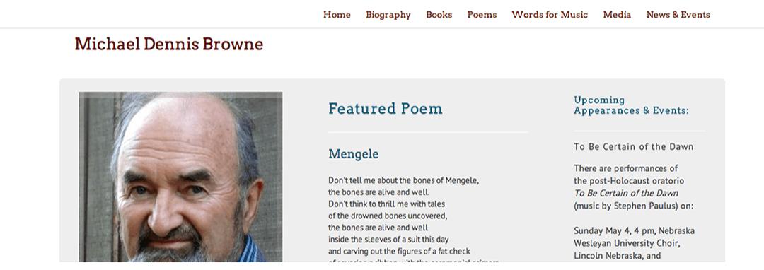 Michael Dennis Browne website