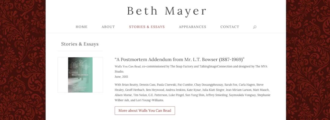 Beth Mayer, twin cities writer