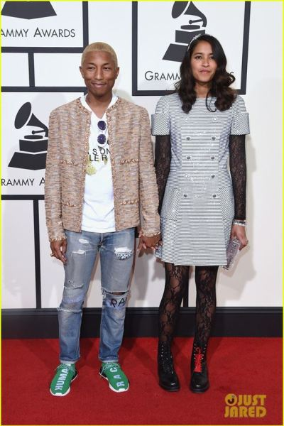 Pharell WIlliams in streetwear clothes