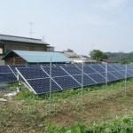 太陽光発電所のフェンス施工