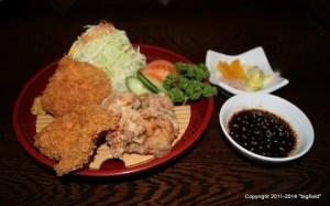 「登利平」の鶏料理で昼食