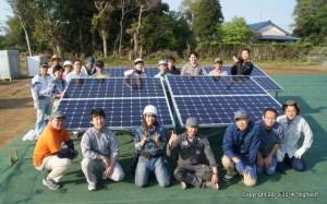 太陽光発電ムラ・施工体験会(記念撮影)