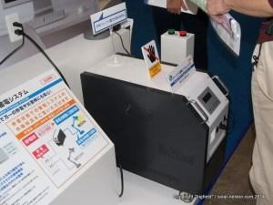 田淵電機の2.5kWh リチウムイオン蓄電池システム(UPS付き)