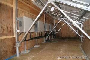 パワコンの騒音対策の防音小屋@清谷太陽光発電所