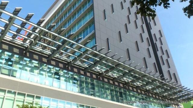 甲府市役所新庁舎の太陽光発電システム(2)