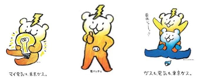 東京ガスによる電気のイメージ・キャラクター「電パッチョ」
