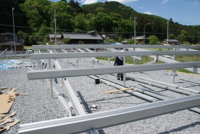 Looopのアルミ架台・ソーラーパネルを設置する前の様子