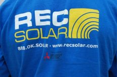 Tim's REC Solar T-shirt from the back. Nice colors and color contrast!