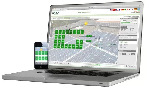 Tigo Energy's module-level monitoring software (Photo: Tigo Energy)