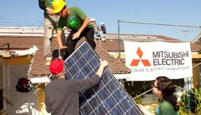 solar finance program now offered by Mitsubishi © Mitsubishi electric US