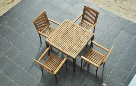 Stacking Armchair Stainless Steel
