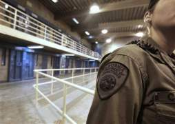 pbsp shu - a correctional officer is seen in one of the housing units