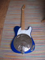 """Blue Sollophonic converted from a Squier Affinity Telecaster®. New owner very happy """"These Squiers make great conversions"""". With their slim necks these are great Sollophonic guitars"""