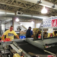 Doing Good at the Greater Boston Food Bank during AARP's Community Day of Service